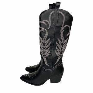 Public Desire Rodeo Knee High Boots sz 4